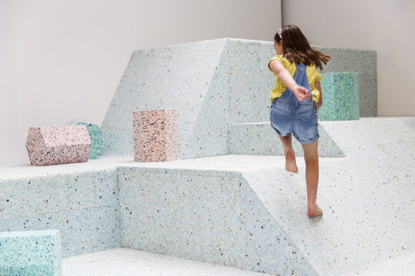 London Art Collective 'Assemble' Unveil The Brutalist Playground Installation At RIBA's Architecture Gallery