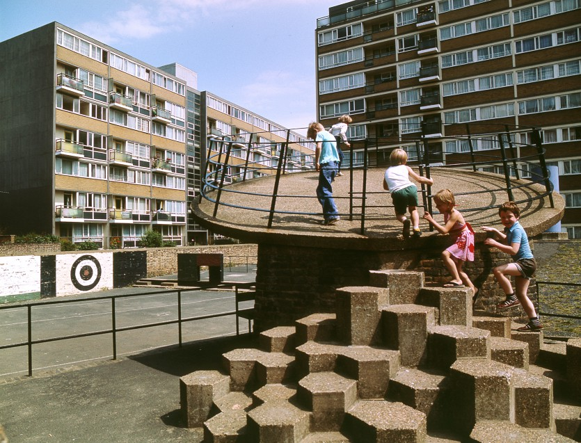Churchill Gardens Estate, archive image (Credit John Donat - RIBA Library Photographs Collection)